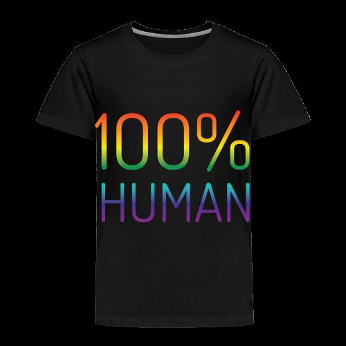 100% Human in regenboog kleuren - Kinderen Premium T-shirt