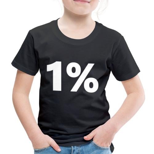 1 % wiess - Kinder Premium T-Shirt
