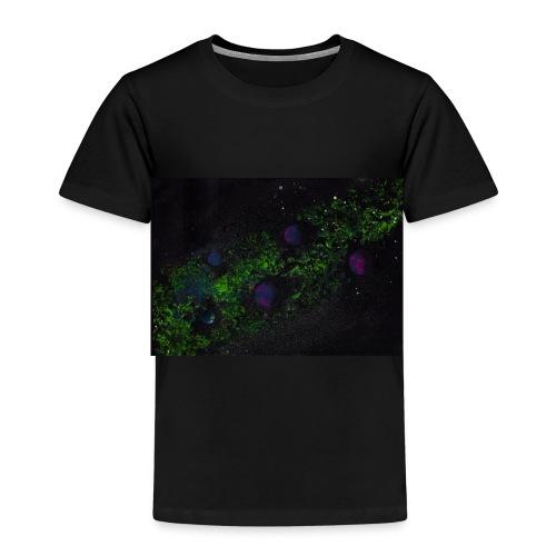 Grüne Milchstraße mit Planeten - Kinder Premium T-Shirt