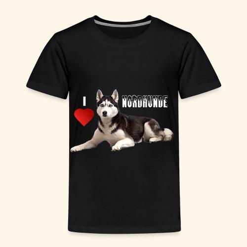 husky 08 weiss - Kinder Premium T-Shirt