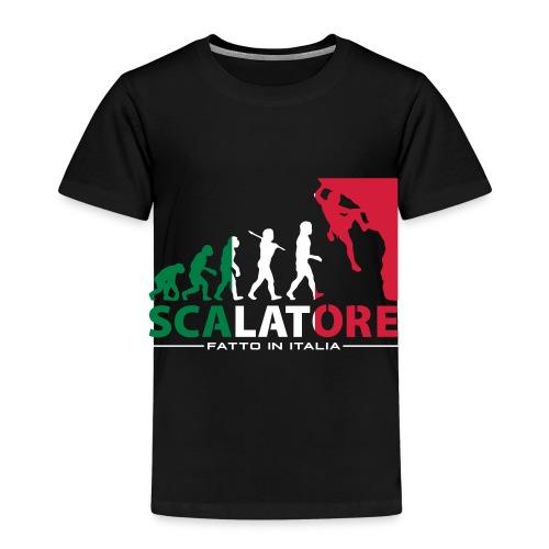ROCK CLIMBING EVOLUTION SCALATORE FATTO IN ITALIA - Kids' Premium T-Shirt