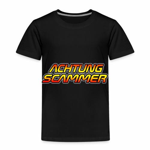 Achtung Scammer (Ohne Mittelfinger) - Kinder Premium T-Shirt