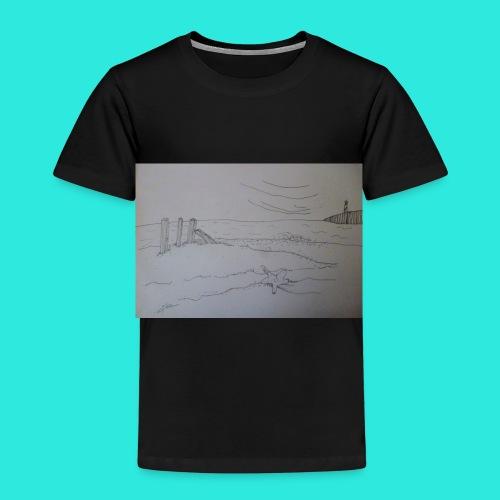 Zeezicht met vuurtoren - Kinderen Premium T-shirt