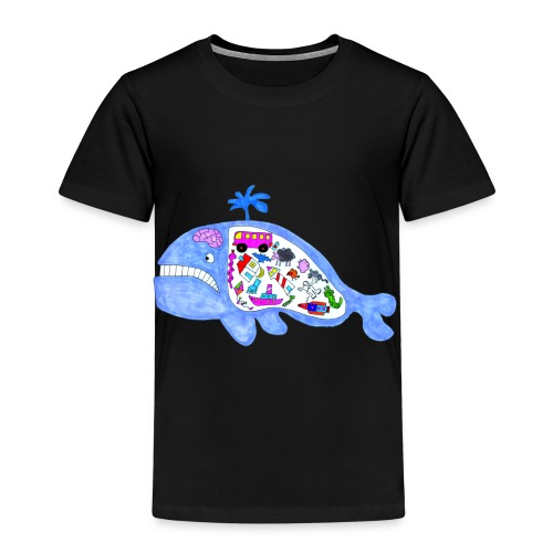 ballena de cosas recortado prueba - Camiseta premium niño