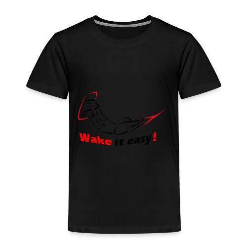 Wake it easy schwarz rot - Kinder Premium T-Shirt