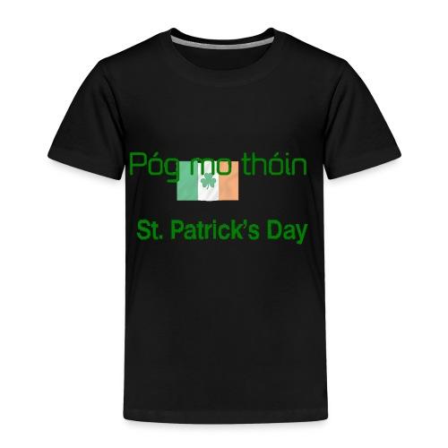 St Patricks day Pogmo Thoin - Kiss My Arse - Kids' Premium T-Shirt