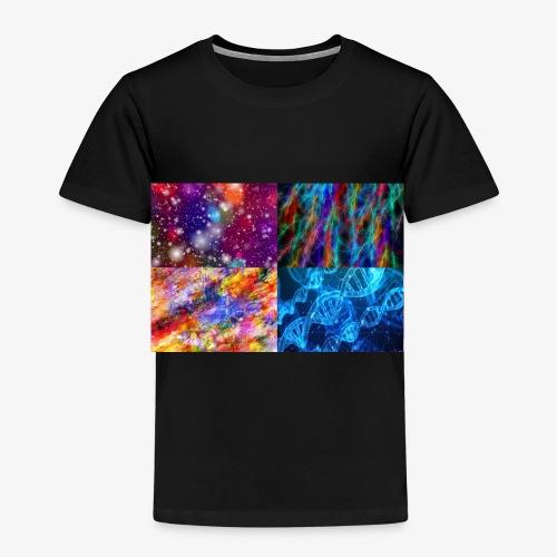 Wissenschaft Goa Weltall Blitze Farben - Kinder Premium T-Shirt