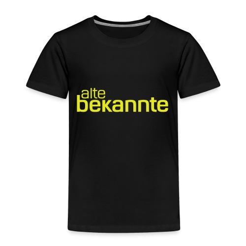 alte bekannte Logo gelb - Kinder Premium T-Shirt