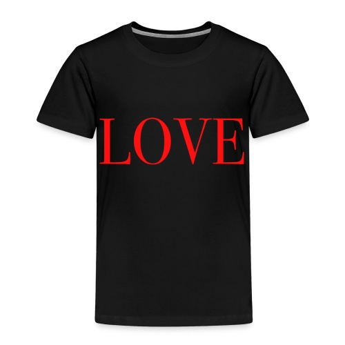 LOVE rot - Kinder Premium T-Shirt