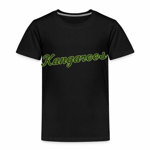 kangaroos font gruen - Kinder Premium T-Shirt