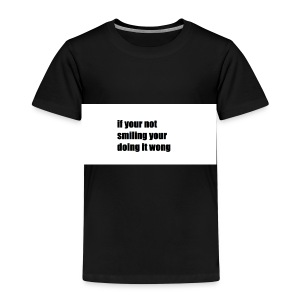 if your not smiling your doing it wong - Kids' Premium T-Shirt