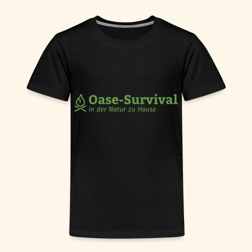 Oase-Survival Logo grün - Kinder Premium T-Shirt
