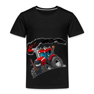 RED TRACTOR white border - Kinderen Premium T-shirt