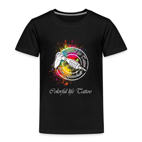 Colorful life Tattoo Logo, Farbklecks - Kinder Premium T-Shirt
