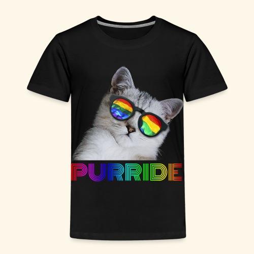 Purride Pride Katze LGBT Lustiges Cat Geschenk - Kinder Premium T-Shirt