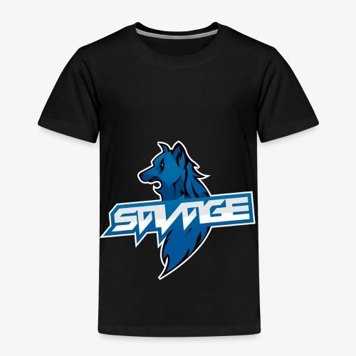 Blue Logo Savage Wolf - Kids' Premium T-Shirt