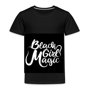 Black Girl Magic 1 White Text - Kids' Premium T-Shirt