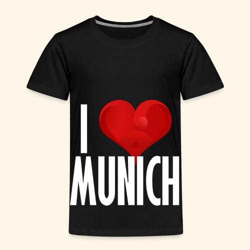 ICH LIEBE MUENCHEN weiss - Kinder Premium T-Shirt