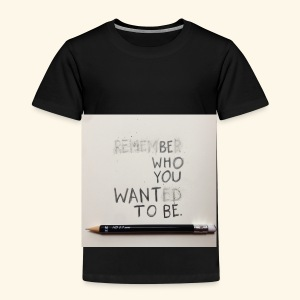 Be who you want to be - Kinderen Premium T-shirt