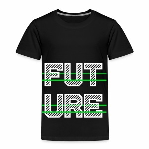 Future Clothing - Green Strips (White Text) - Kids' Premium T-Shirt