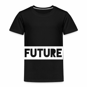 Future Clothing - Text Rectangle (White) - Kids' Premium T-Shirt