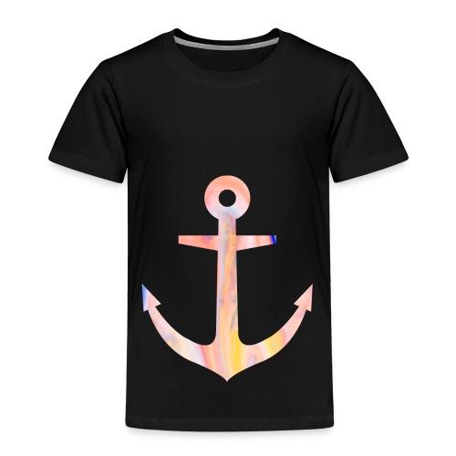 Schlichtes buntes Anker Desgin/Symbol - Kinder Premium T-Shirt