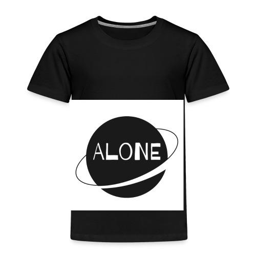Alone planet white background - Kids' Premium T-Shirt