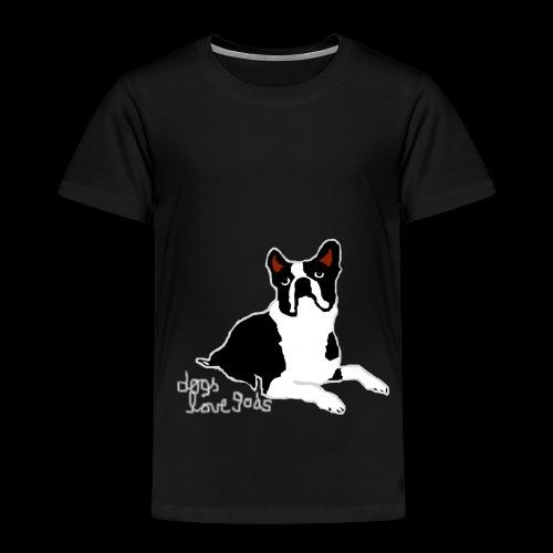 dogs love gods 2 - Kinder Premium T-Shirt