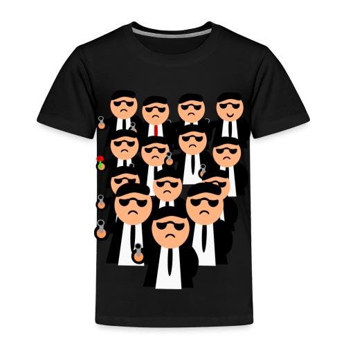 Männer in Anzügen und Pistolen - Kinder Premium T-Shirt