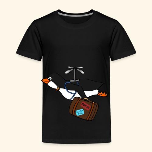 Pinguin Migrieren Berlin Vogel Fliegen Urlaub - Kinder Premium T-Shirt