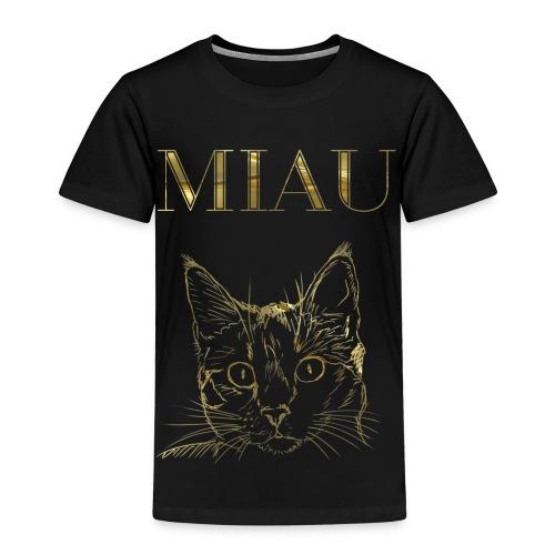 Katze Miau Gold - Kinder Premium T-Shirt