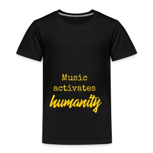 Music activates humanity - Kinderen Premium T-shirt