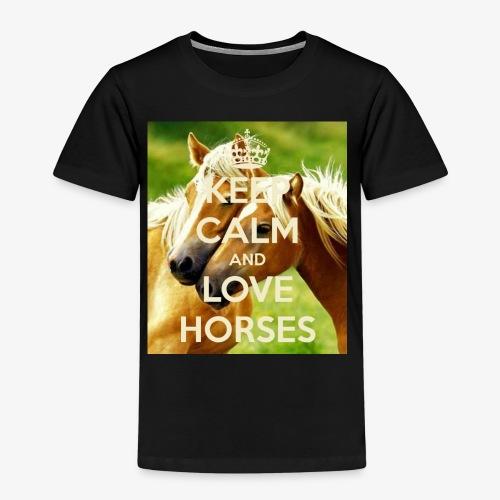 Keep Calm and love horses - Kinderen Premium T-shirt