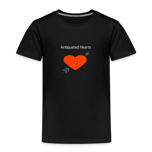 Antiquated Hearts cupids arrow white lettering - Kids' Premium T-Shirt