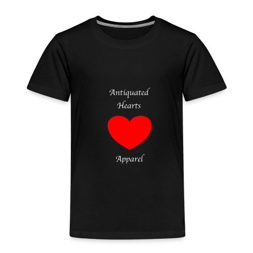 Antiquated Hearts Gothic White Lettering - Kids' Premium T-Shirt