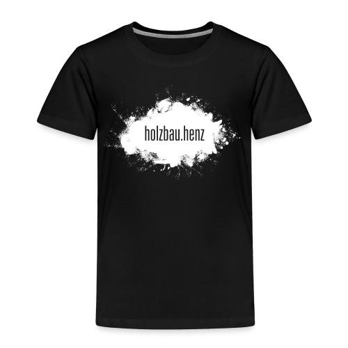 holzbau.henz logo white - Kinder Premium T-Shirt