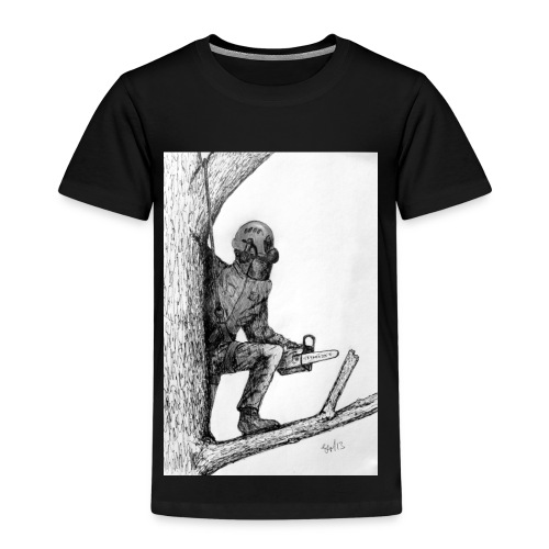 Arborist Tree Surgeon Using a Chainsaw - Kids' Premium T-Shirt