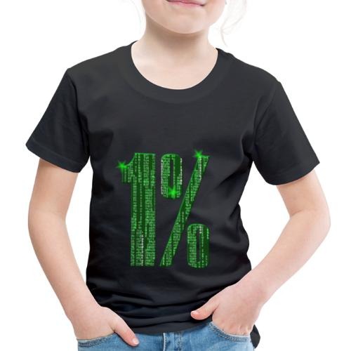 1 % Matrix - Kinder Premium T-Shirt