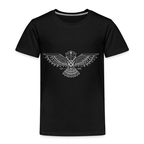 grafische uil wit - Kinderen Premium T-shirt
