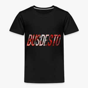 Busdesto red, grey, white polygon shirt apparel - Kids' Premium T-Shirt