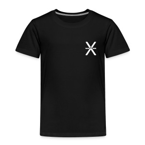Waste of Space Logo black and white - Premium T-skjorte for barn