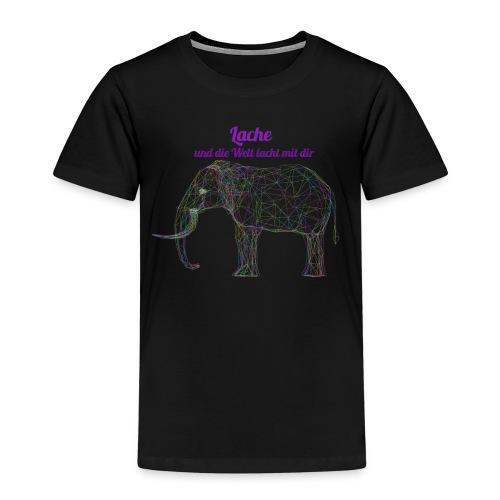 Lache und die Welt lacht mit dir - Kinder Premium T-Shirt