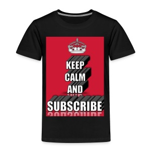 keep calm and subscribe logo - Kids' Premium T-Shirt