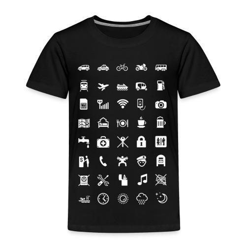 T-shirt för resan med vita ikoner - Premium-T-shirt barn