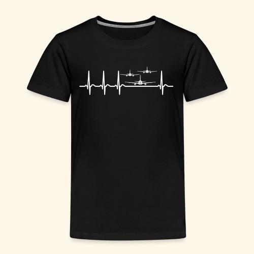 Herzschlag Flugschau Luftrennen Flugzeug Shirt - Kinder Premium T-Shirt
