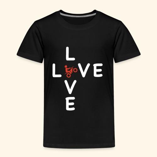 LOVE Cross white wheely red 001 - Kinder Premium T-Shirt