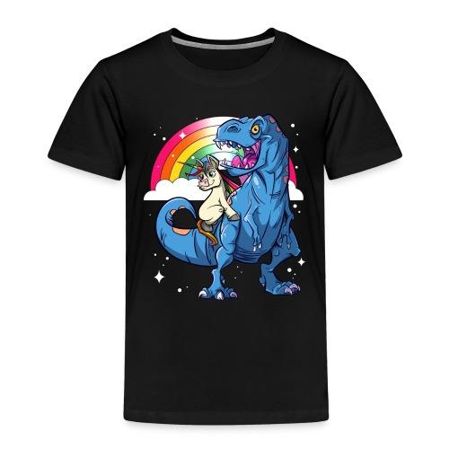 Dinosaurier mit Einhorn - Kinder Premium T-Shirt