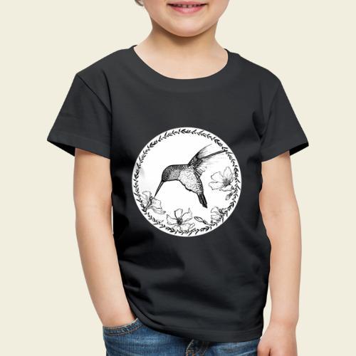 Kolibri Blüten Kreis - Kinder Premium T-Shirt