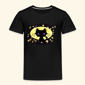 The Kitten and the Moon (black) - Kinder Premium T-Shirt
