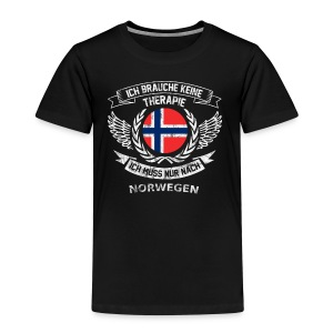 norwegen therapie t shirt retro dfd - Kinder Premium T-Shirt